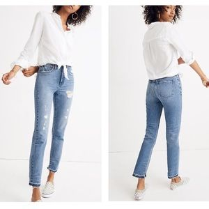 Madewell L Long Sleeve Tie Front Top